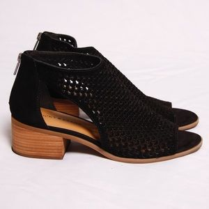 Lucky Brand Narcia Perforated Suede Black Bootie
